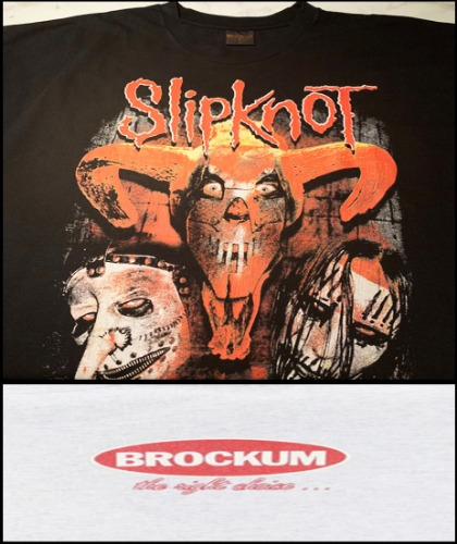 2020 S/S BROKUM 2001 VINTAGE - SLIPKNOT LOWA - HEAVY COTTON CRACK OVER FIT TSHIRT [MADE SHOP H.K]