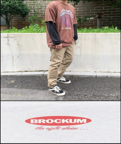 2020 S/S BROKUM VINTAGE 1991 -METALLICA CRACK DAMAGE - HEAVY COTTON CRACK OVER FIT TSHIRT [MADE SHOP H.K]