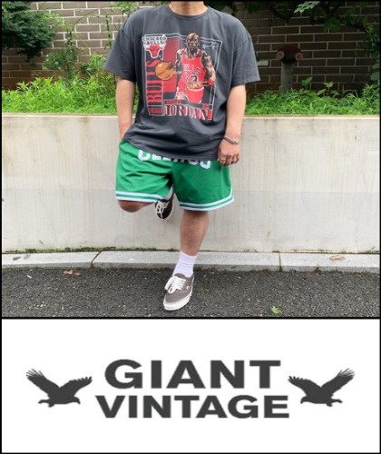 2020 S/S GIANT U.S.A 1993 VINTAGE - CHICAGO BULLS PS GRAPHIC 초판 - HEAVY COTTON OVER FIT TSHIRT [MADE SHOP H.K]