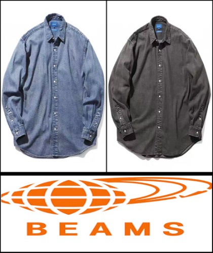 2020 F/W BEAMS JAPAN  -FOUR MARD U.S.A -RETRO WASH DENIM OVER FIT  JACKET SHIRT [International]
