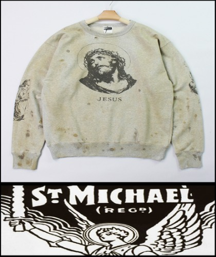 2020 F/W SAINT MICHAEL HEAVY COTTON -JESUS- VINTAGE CRACK MTM [MADE SHOP]