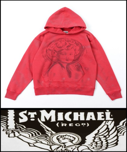 2020 F/W SAINT MICHAEL HEAVY COTTON -MARIA-  VINTAGE CRACK HOODY [MADE SHOP]
