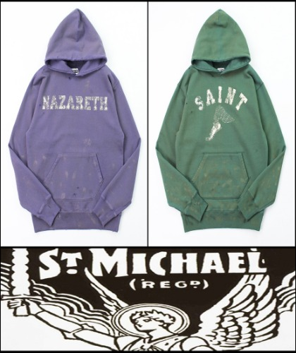 2020 F/W SAINT MICHAEL HEAVY COTTON -BILL TOOLBAR- VINTAGE SET-UP HOODY [MADE SHOP]