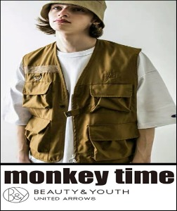 2020 S/S MONKEY TIME X COSKE JAPAN -SEMI OVER WILD POCKET- TECH VEST [International]