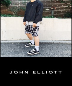 2019 S/S JOHN ELLIOTT LONDON -SILK MESH-  BASKETBALL JERSEY SHORT   [International]