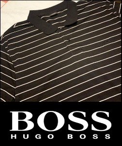 2019 S/S HUGO BOSS BLACK SILK STRIPE MONOGRAM LOGO PK [International]