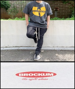 2020 S/S BROKUM 1998 VINTAGE - WU TANG CLAN - HEAVY COTTON CRACK OVER FIT TSHIRT [MADE SHOP H.K]