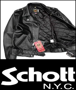2019 F/W SCHOTT N.Y.C JAPANS HEAVY QUILTED COW LEATHER JACKET [International]