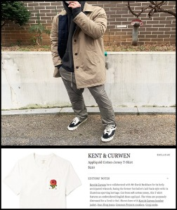 2020 F/W KENT & CURWEN U.K  WINTER - REVERSIBLE- TRENCH PADDING COAT  [International]