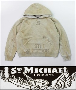 2020 F/W SAINT MICHAEL HEAVY COTTON -JESUS- VINTAGE SET-UP HOODY [MADE SHOP]
