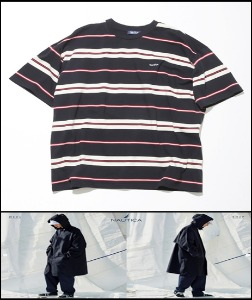 2020 S/S NAUTICA -JAPAN EXCLUSIVE- 1991s RETRO CLASSIC OVER FIT HEAVY WEIGHT STRIPE TSHIRT [International]