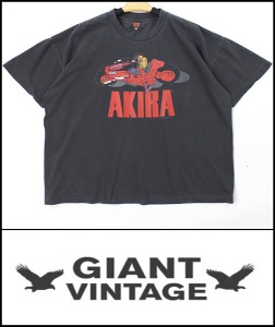2021 S/S GIANT U.S.A 1988 VINTAGE - AKIRA おおともかつひろ  - HEAVY COTTON OVER FIT TSHIRT [MADE SHOP H.K]