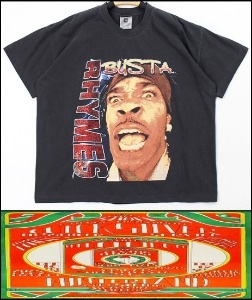 2021 S/S WINTERLAND - SNOOP DOGG X BUSTA RHYMES - TOUR VINTAGE HEAVY COTTON OVER FIT TSHIRT [MADE SHOP H.K]