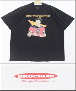 2021 S/S BROCKUM U.S.A 1988 VINTAGE - EVIL EMPIRE BAND X NINE INCH NAILS BAND - HEAVY COTTON BLACK LOGO OVER FIT T SHIRT [MADE SHOP H.K]