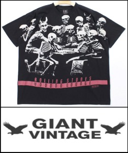 2021 S/S GIANT U.S.A 1988 VINTAGE - THE ROLLING STONES X NIRVANA SEA HORSE  X  NIRVANA NEVER MIND  - HEAVY COTTON BLACK LOGO OVER FIT T SHIRT [MADE SHOP H.K]