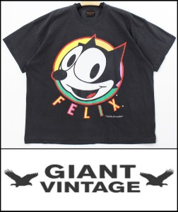 2021 S/S GIANT U.S.A 1996 VINTAGE - FELIX THE CAT X GET A GRIP BAND - HEAVY COTTON BACK LOGO OVER FIT TSHIRT [MADE SHOP H.K]