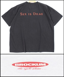 2021 S/S BROCKUM U.S.A 1988 VINTAGE - MARLIN MANSON SEX IN DEAD  X MARLIN MANSON US TOUR  - HEAVY COTTON BACK LOGO OVER FIT T SHIRT [MADE SHOP H.K]
